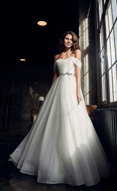 воздушное свадебное платье из шифона