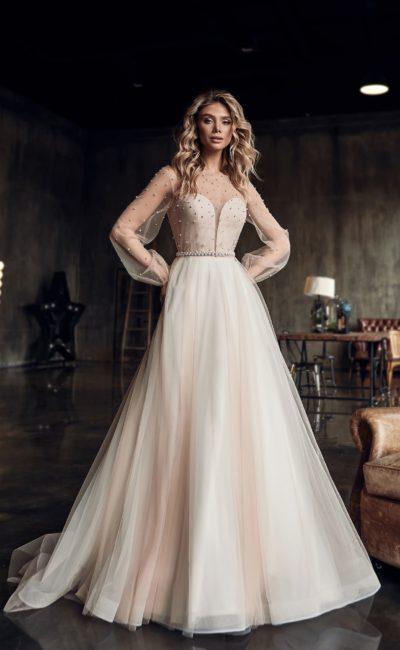 свадебное платье-трансформер с пышной юбкой