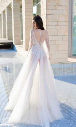 свадебное платье из прозрачного еврофатина