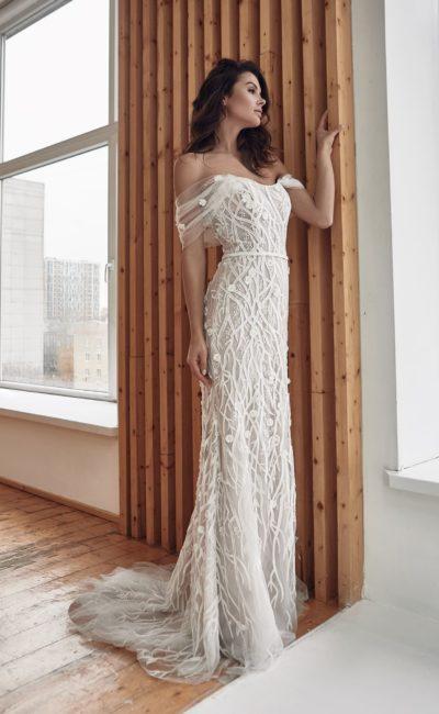 Свадебное платье с дизайнерским кружевом