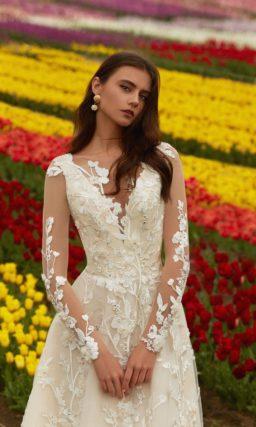 цельнокроеное свадебное платье