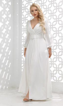 свадебное платье со сдержанным дизайном