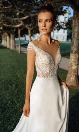 Летнее свадебное открытое платье