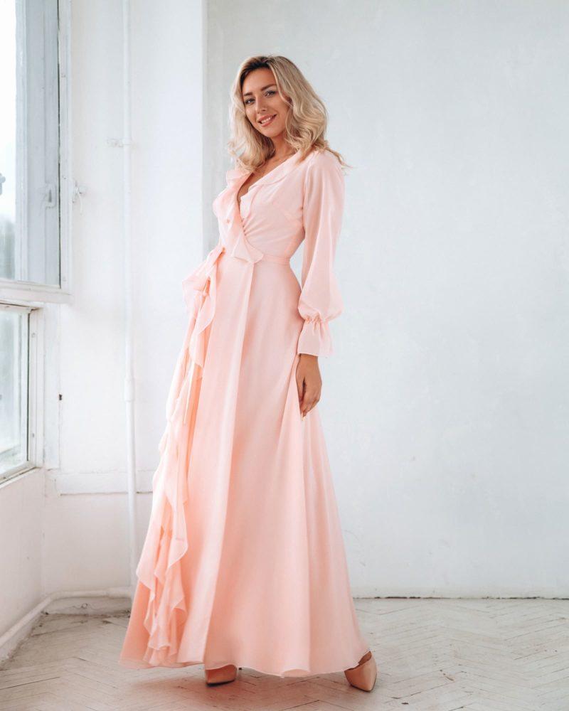 Розовое платье на свадьбу