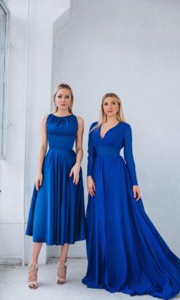 Синее платье на свадьбу