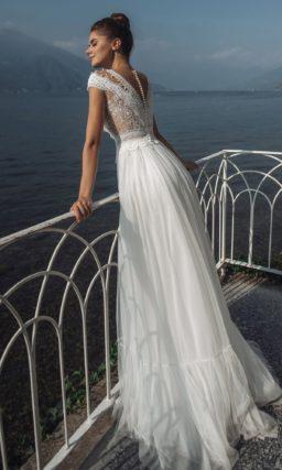 Свадебное платье приталенного кроя в стиле прованс