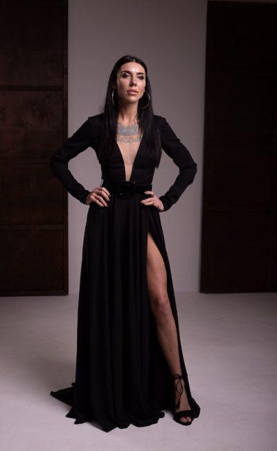 Строгое вечернее платье в пол
