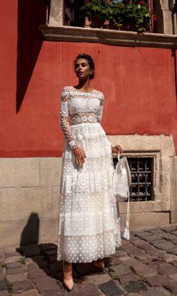 свадебное платье длины миди в стиле ретро