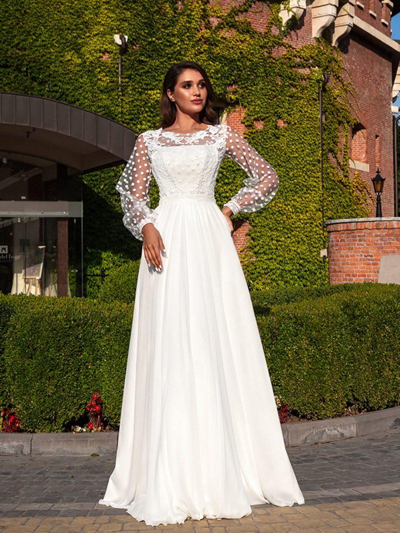 свадебное платье с элементами ретро стиля