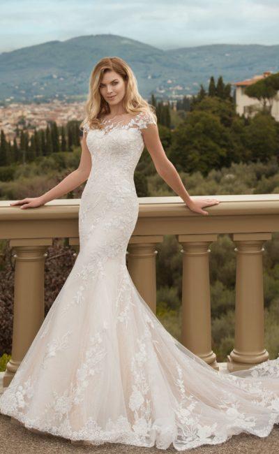 свадебное платье русалка из гипюра