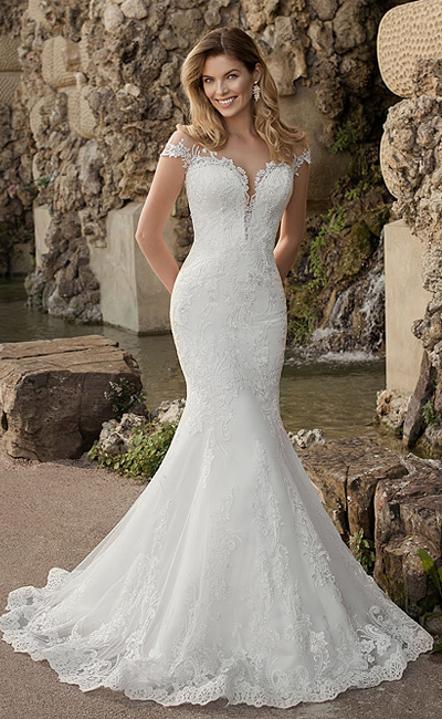 кружевное свадебное платье рыбка