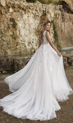 Летнее свадебное платье в стиле nude