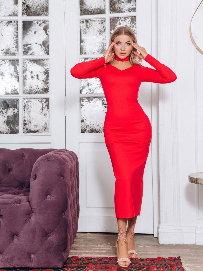 Красное платье на праздник
