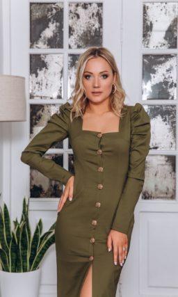 Вечернее платье с юбкой длины миди
