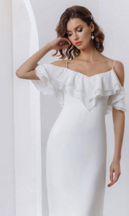 Изящное свадебное платье в бельевом стиле