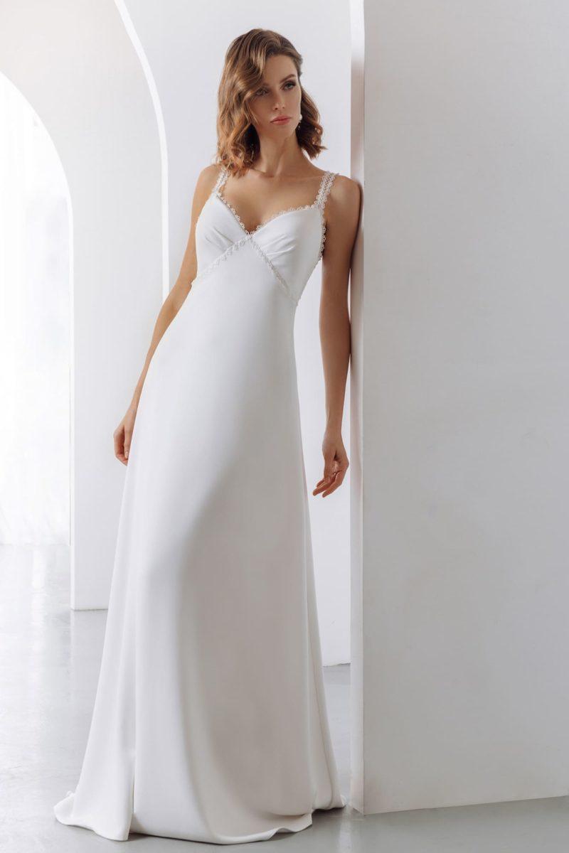 Простое недорогое свадебное платье