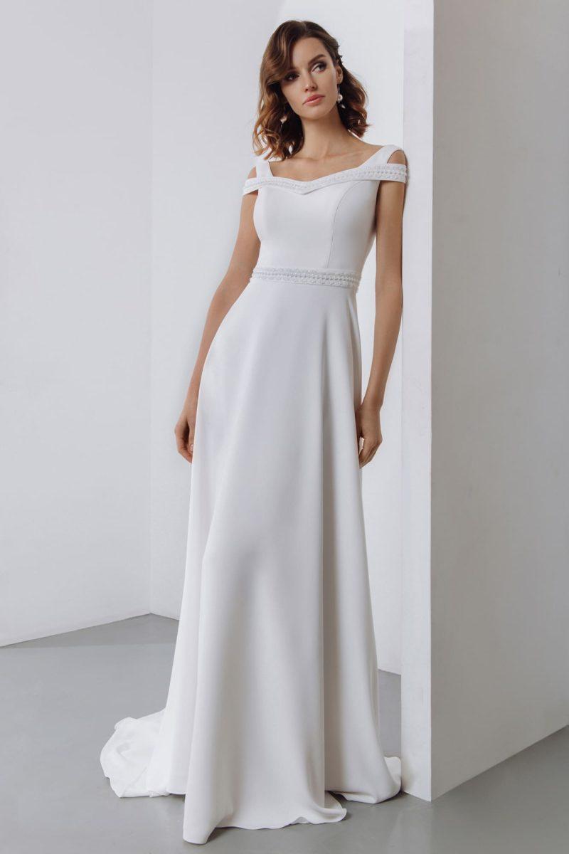 Свадебное платье с минималистичным дизайном