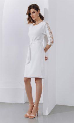 Свадебное платье-футляр до колен