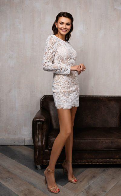 Свадебное платье-трансформер из вязаного кружева