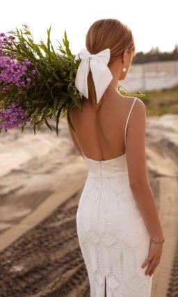 Короткое свадебное платье футляр