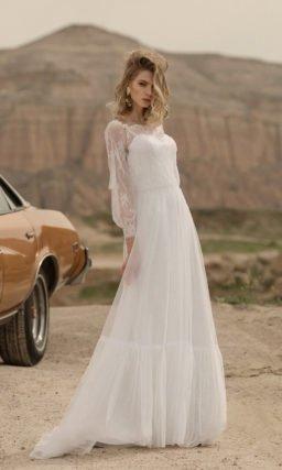 Свадебное платье в стиле «бохо-шик»