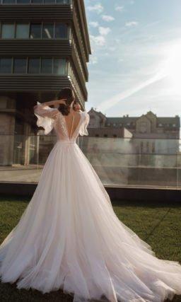 Свадебное платье из тонкого шифона
