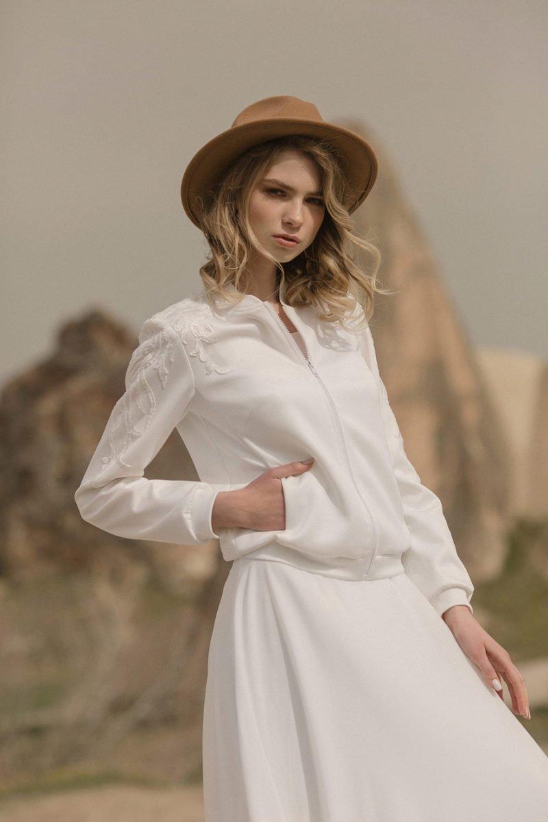 Свадебное платье с курткой
