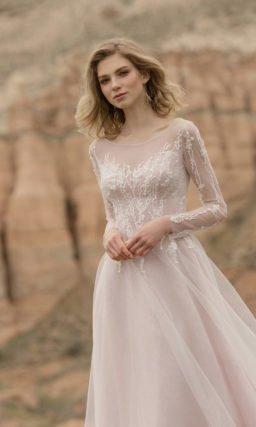Свадебное платье серого оттенка
