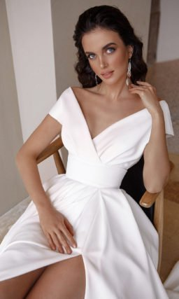 Свадебное простое платье