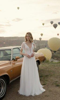 Свадебное платье из легких струящихся тканей