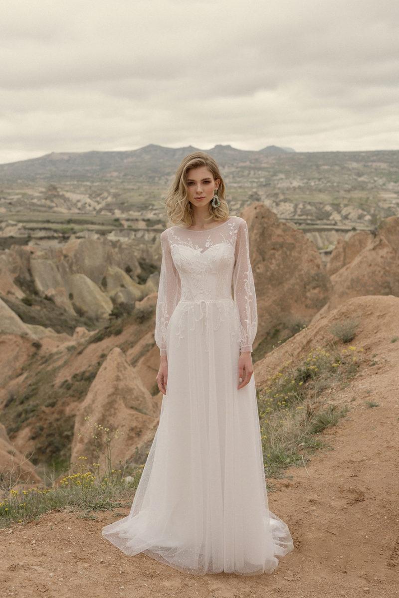 Свадебное платье из легкого фатина