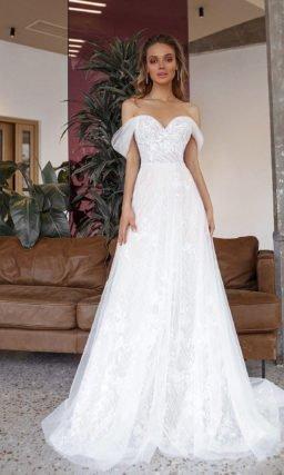 Свадебное платье с нежным женственным дизайном