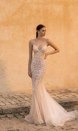 Шикарное свадебное платье «рыбка»