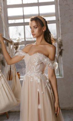 Пляжное свадебное платье