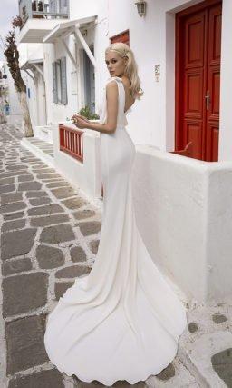 Простое свадебное платье рыбка