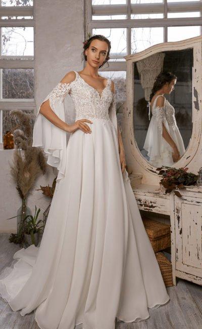 Cвадебное платье с необычными рукавами