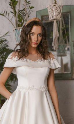 Свадебное платье силуэта «принцесса»