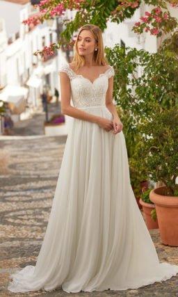 Свадебное платье айвори в греческом стиле