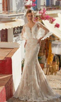 Свадебное платье силуэта рыбка
