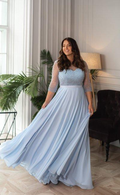 Свадебное платье с рукавами до локтей