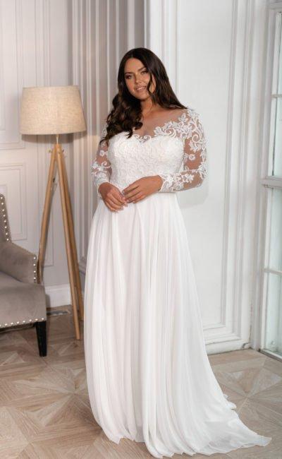Свадебное платье с юбкой в пол