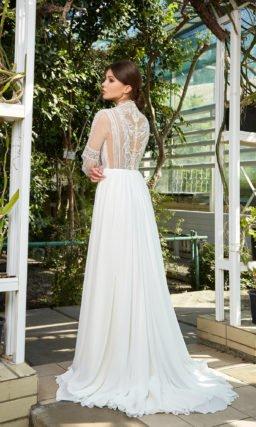 Свадебное платье с прозрачным корсажем