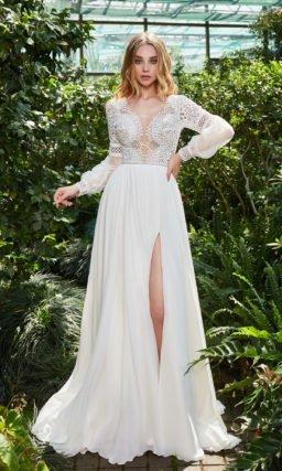 Приталенное свадебное платье в греческом стиле
