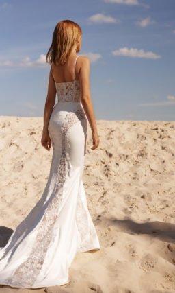 Свадебное платье рыбка из шифона