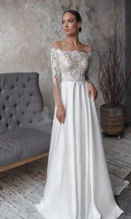 Свадебное платье с топом с прозрачной основой