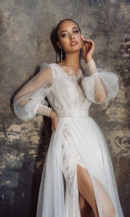 Свободное свадебное платье