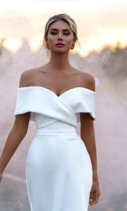 Свадебное платье рыбка со шлейфом