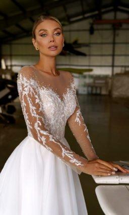 Открытое свадебное платье