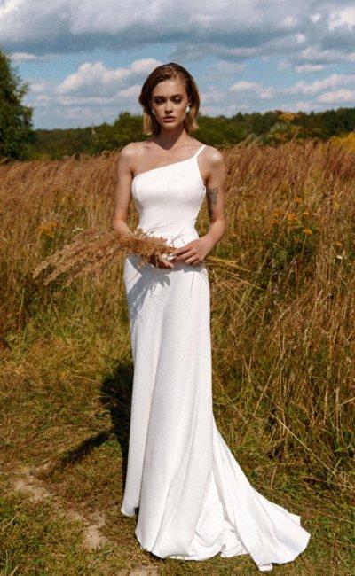 Платье свадебное на одно плечо