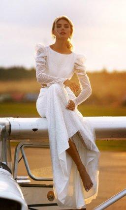 Эффектное свадебное платье «русалка»